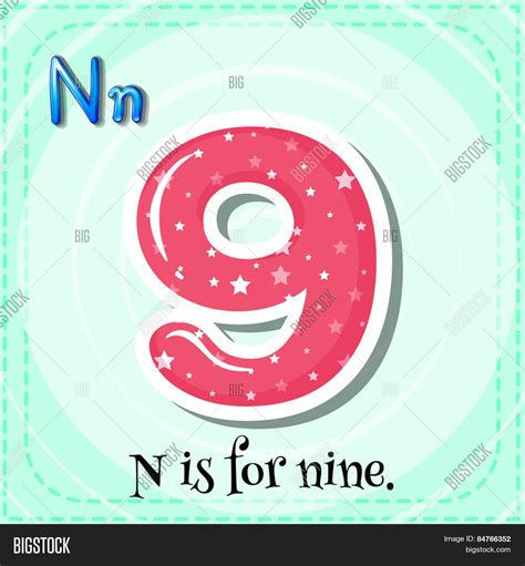 N Is For by Alphabet N Nine Vector Photo Bigstock