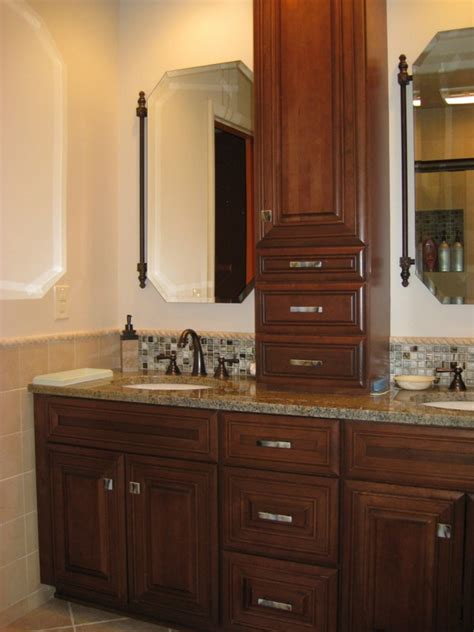 vanity linen cabinet with her gorgeous bathroom vanity and linen cabinet bathroom linen