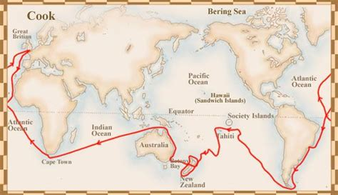 Cook Search Captain Cook Voyage Map Search
