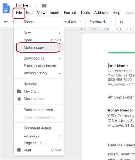 google docs cover letter template find