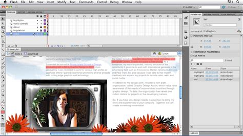 tutorial flash cs5 website creating a first web site with flash professional cs5