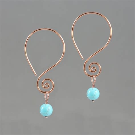 Handmade Wire Earrings Designs - scroll dangling wiring earring handmade us free shipping anni