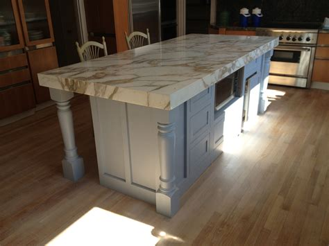 Kitchen Island With Legs by Massive Island Legs Support Large Marble Island Osborne