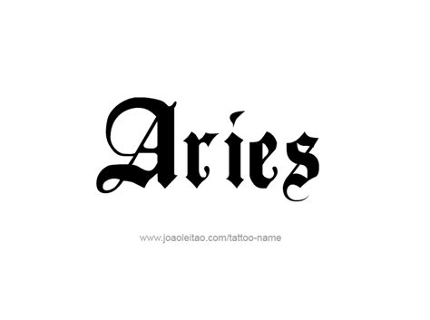 xtasys tattoo font aries word tattoos in cursive pictures to pin on pinterest