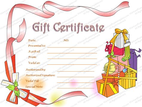 printable gift voucher christmas gift certificate template beautiful printable gift