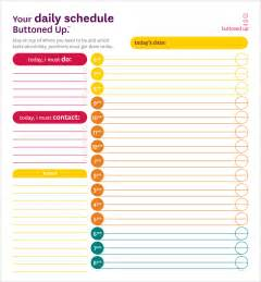 daily activity schedule template sle printable daily schedule template 17 free