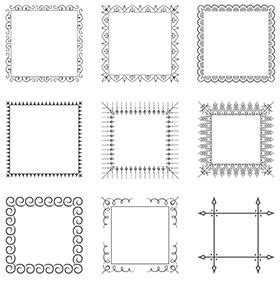 Decorative Frames Free Vintage Vector Pack 85 Vector Ornaments 20