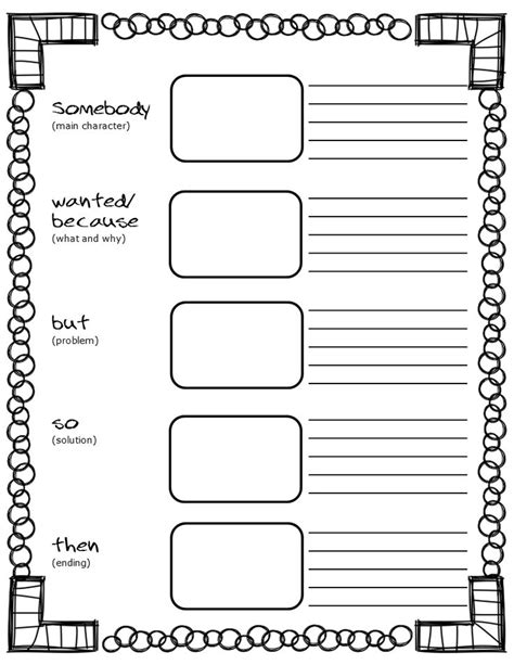 printable homework graphic organizer free printable somebody wanted but so then graphic