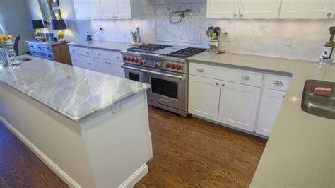 Blue Quartz Kitchen Countertops by Sparkling Blue Marble Clamshell Quartz Kitchen Countertops