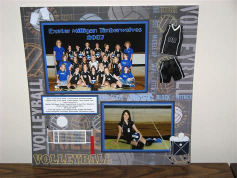 scrapbook layout ideas for volleyball 1000 images about scrapbook senior scrapbook ideas on