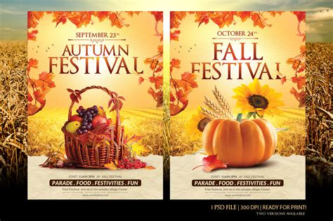 fall festival flyer template flyer templates on creative