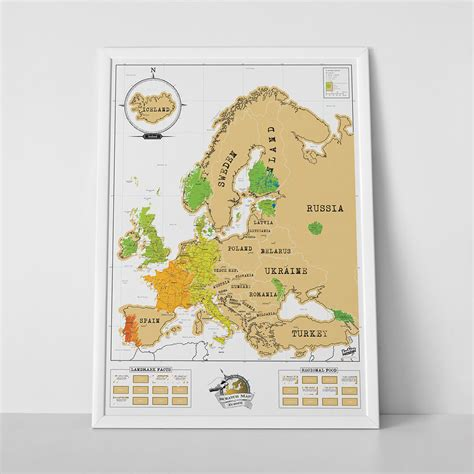 map of whole europe scratch map 174 europe