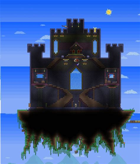 Floating Kitchen Islands my first attempt at building a sky castle terraria