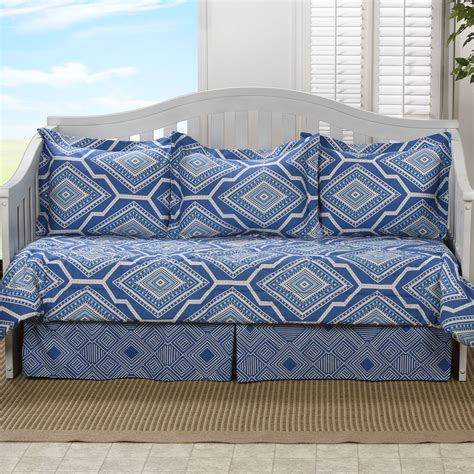 Bryso Geometric Blue Daybed Bedding Set 5 Pc Daybed 5 Daybed Bedding Sets