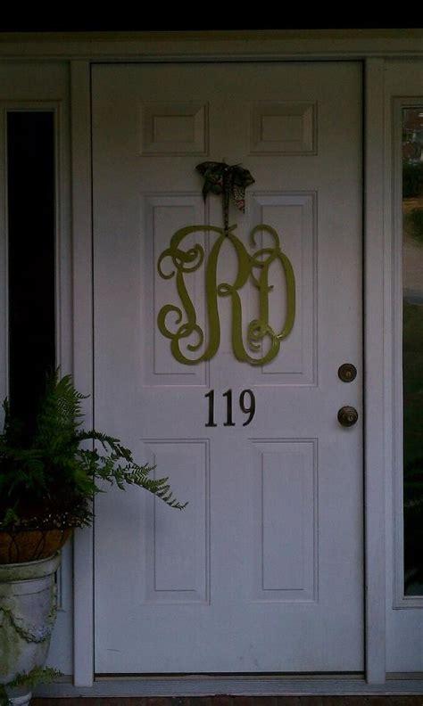 Front Door Initials Front Door Monogram Lawn Garden