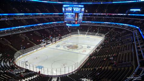 Chicago Blackhawks Winter Hat Giveaway - 300 level corner united center hockey seating rateyourseats com