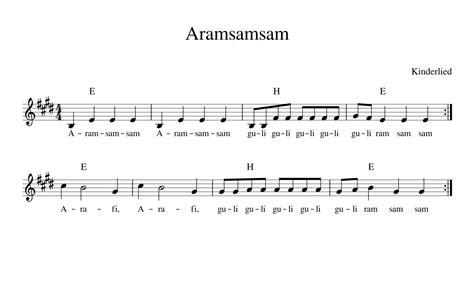 Sam Allen by Aramsamsam Kinderlieder Noten Text Kinderlieder