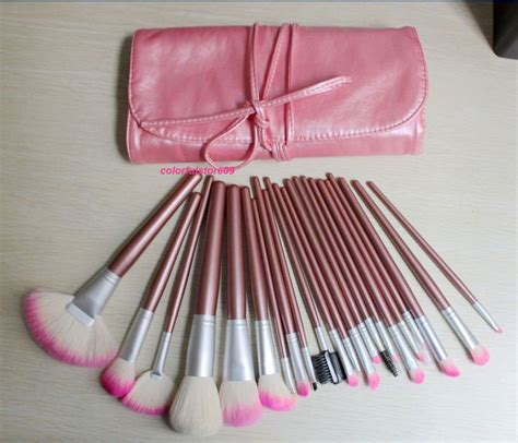 light pink makeup brushes china 22pcs pink goat hair up mineral cosmetic brush