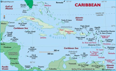 map of the caribbean islands caribbean