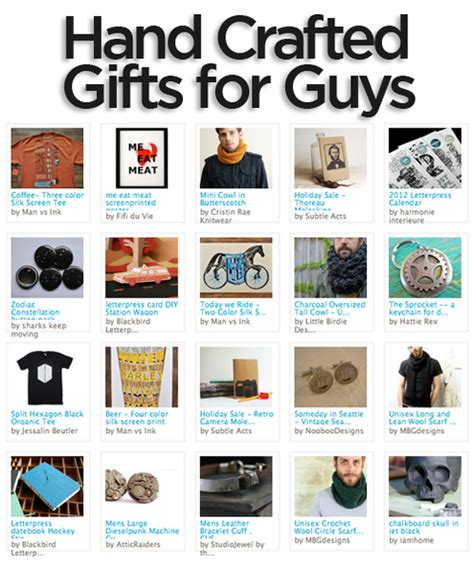 gift guide awesome handcrafted gift ideas for guys man