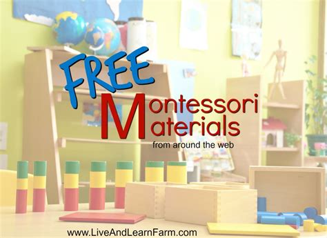 free montessori materials online free montessori materials from around the web live and