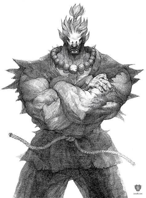 Fighter Akuma Black artwork akuma capcom