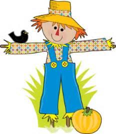 Cute cartoon scarecrow pumpkin scarecrow clipart