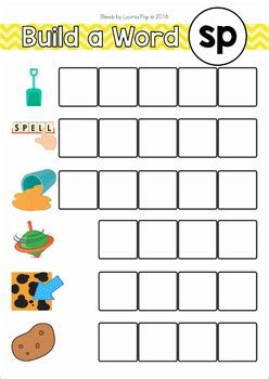 blends worksheets  activities sp  lavinia pop tpt