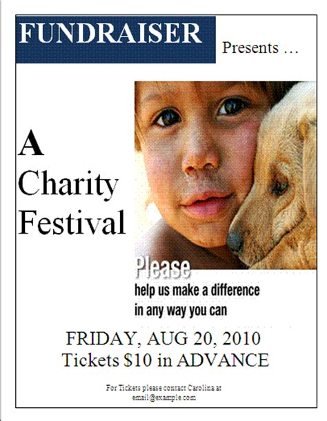 fundraiser flyer templates images