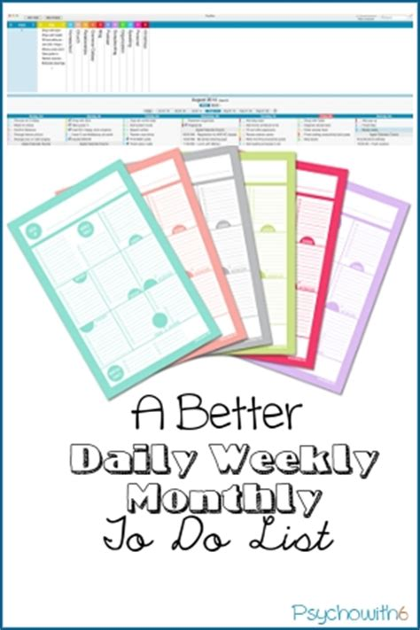 better to do list a better daily weekly monthly to do list