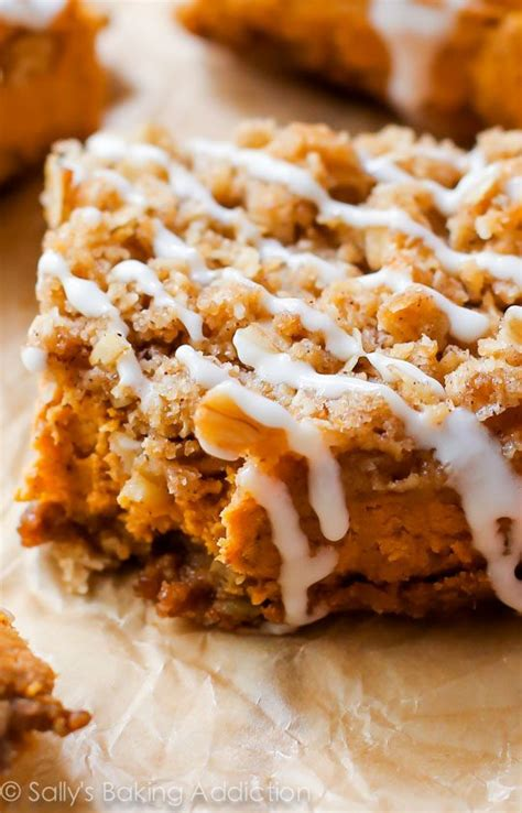 pumpkin bars with streusel topping cream cheese and butterscotch pumpkin pies with gingersnap