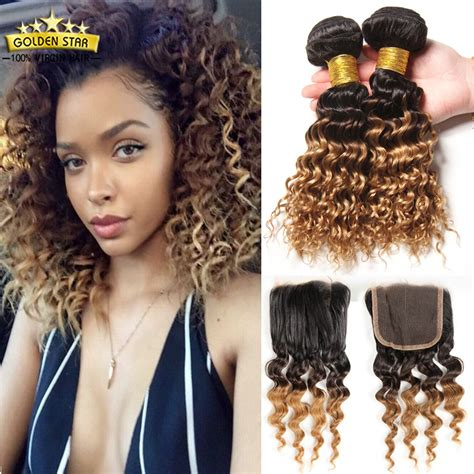 short weave hairstyles with closure 8a ombre brazilian curly hair with closure short bob human