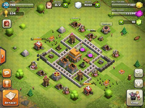 desain layout coc town hall level 5 clash of clans base pinterest