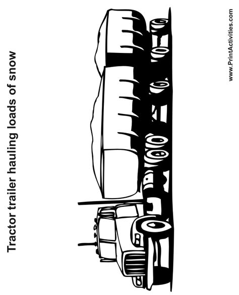Tractor Trailer Coloring Pages Tractor Trailer Coloring Pictures