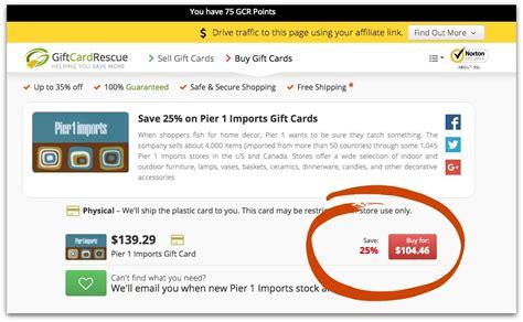 Pier 1 Gift Card - 5 genius ways to save money online thrift diving blog