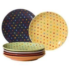 Kate Spade 9810 kate spade new york dinnerware set of 4 larabee road polka dot tidbit plates black and white