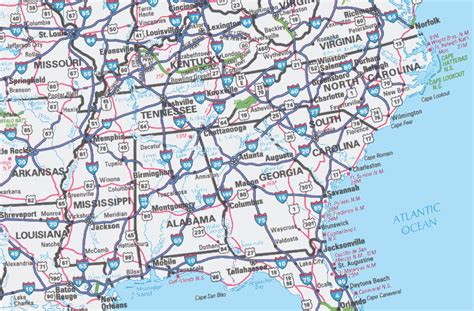 road map us highways image gallery highway map eastern us