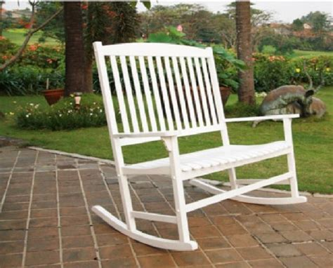 white wood patio furniture outdoor seats 2 porch rocker rocking chair white