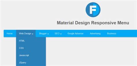 material design menu jquery 40 free responsive navigation menu plugins tutorials