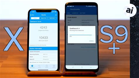 iphone   samsung galaxy   benchmark comparison