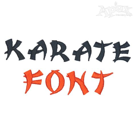embroidery design karate karate embroidery font