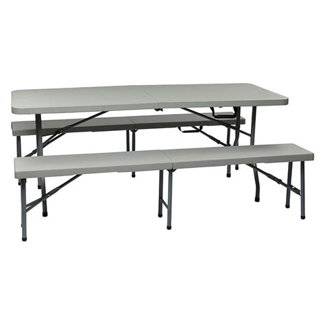3 piece folding table and bench set 3 piece folding table and bench set qt3965