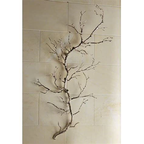 twig wall decor global views twig wall art nickel