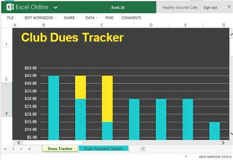Club Dues Spreadsheet by Club Dues Tracker For Excel