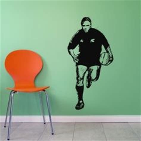 Rugby Wall Stickers rugby players wall art sticker boys sport bedroom transfer