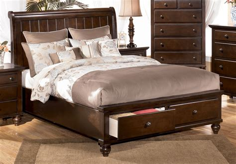 ashley king size bed camdyn queen size sleigh bed with storage by ashley