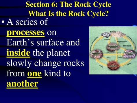 section 3 1 the rock cycle ppt inside earth chapter 5 notes rocks powerpoint