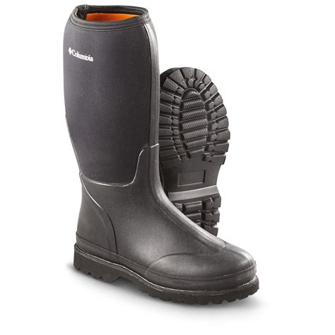 waterproof rubber boots for columbia 174 14 quot homestead waterproof rubber boots black