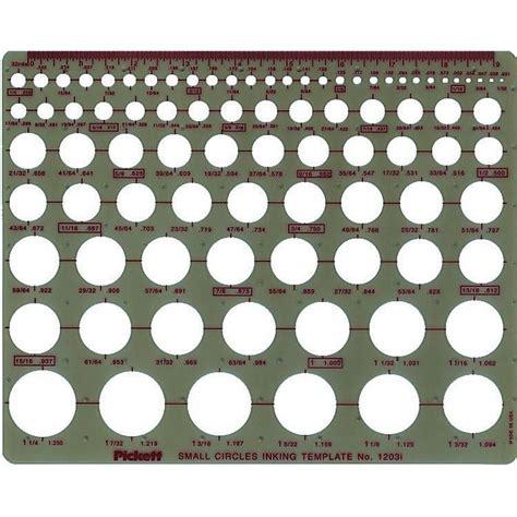 Pickett Small Circle Template 1203i Pickett Drafting Templates