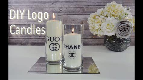 designer candles diy designer logo candles chanel gucci youtube